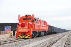 防城港东湾铁路装卸线投入运营